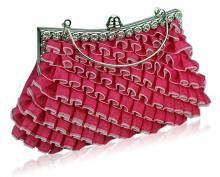 Pink clutch väska