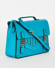 Turkos smart satchel väska
