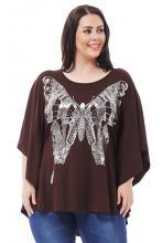 Tummanruskea oversize perhospaita