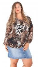 Brun djurmönstrad tröja