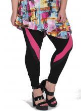 Musta-pinkit leggingsit