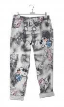 Harmaat housut Ressu-printillä