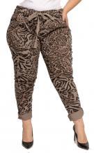 Ruskeat housut leopardi-printillä