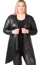 Musta leather look jakku