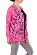 Pinkki pitsikuvioinen jakku