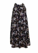 Musta-kukallinen swing mekko