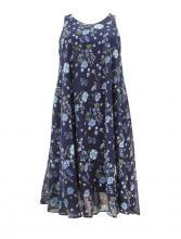 Tummansini-kukallinen swing mekko