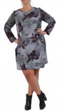 Tummanharmaa-kukallinen mekko