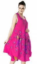 Pinkki mekko perhosilla