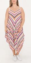 Randig klänning_rosa