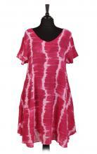 Pink tie dye klänning