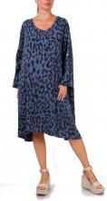 Denim mekko leopardikuviolla