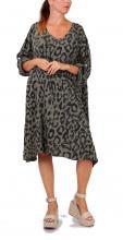 Khaki mekko leopardikuviolla