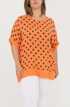 Orange polka dot tunika