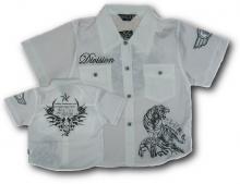 Valkoinen, lyhythihainen paita printillä II