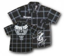 Musta, lyhythihainen paita printillä
