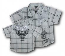 Valkoinen, lyhythihainen paita printillä