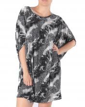 Musta-leoprintti tunikamekko